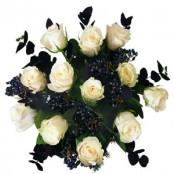 12 WHITE ROSES ( EVERLASTING LOVE)
